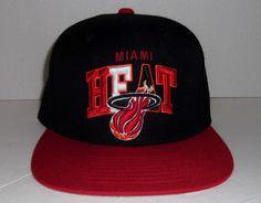 brand new 7043e b1762 Miami Heat NBA Mitchell   Ness Nostalgia Co Hardwood Classics Snapback Hat  Cap