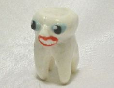 TOOTH PERSON ooak polymer clay figure fairy man woman miniature smiling dentist