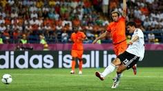 Mario Gomez (Germany) - 1st Goal - Netherlands 1-2 Germany - Group B Knockout