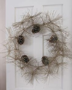 Sparkle Pinecone Wreath and Garland