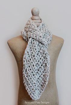 """I am super excited to be able to finally release my latest design called the """"Pull Through Adjustable Scarf"""". Super original right?? I designed it to have a pull through space (hole) so its easy to adjust so whenever you feel hot you can loosen it up (like when you are walking through the super …"""