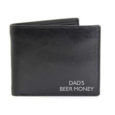 Order Personalised Black Leather Wallet for just from The Engraved Gifts Company. Our Personalised Black Leather Wallet also comes with free personalisation options. Personalized Fathers Day Gifts, Engraved Gifts, Gifts For Father, Personalised Leather Wallet, Dad Day, Initials, Black Leather, Messages, Characters