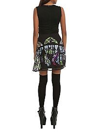 HOTTOPIC.COM - Disney Sleeping Beauty Maleficent Stained Glass Dress...   Wish this came larger... or in a fuller skirt...   Or as the pattern on one of the flowy tanks that are so popular now.
