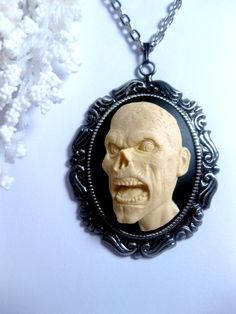 Walking Dead Zombie Monster Necklace  3D by FashionCrashJewelry