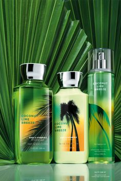 MY FAVORITE SCENT!!  Tropical with a TWIST! #dailytrio #CoconutLimeBreeze