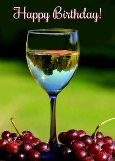 Happy Birthday Cheers, Happy Birthday Celebration, Birthday Greetings, Birthday Wuotes, Happy Birthday Flower, Birthday Wishes And Images, Birthday Messages, Chardonnay Wine, Wine Poster