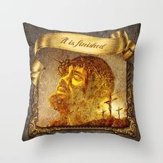 Also available with Norwegian and Icelandic text  #design #interior #homedecor #art #artist #modern #culture #iceland #norway #prdart #art #trowpillow #cushion #designer #cool #coolhunter #modernart #scandinaviandesign #typography #and #christian #jesus #christianart #christiandesign