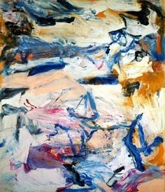Willem de Kooning - North Atlantic Ligth, 1977. Oil on canvas, 202.5 x 177 cm. Stedelijk Museum, Amsterdam, Netherlands.