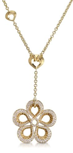 PADANI - VIOLETTO CLASSIC COLLECTION ~ An 18k yellow gold Violetto necklace, set with diamonds and sapphires