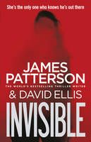 INVISIBLE, by James Patterson | My comment: The first thing I noticed is the possibly hooded figure in a whitish sheet over a person. After I looked at this figure I looked around the book and saw the use of only three colours, red, white and black. The top of the book has a small text which suggests that the killer is a female?