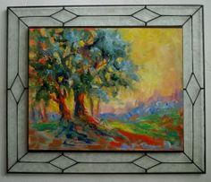 California Scrub Oak tree Gail Grant paintings impressionist oil painting