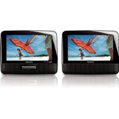 """Philips PD7022/12 Lettore DVD Portatile Doppio Schermo LCD 7"""""""