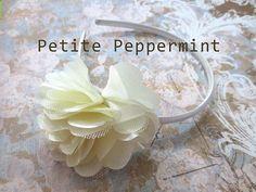 Baby headband toddler headband little girl by PetitePeppermint, $5.95