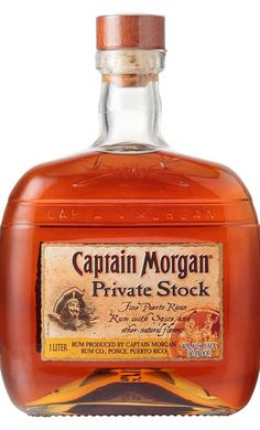 Delicious over ice! Captain Morgan Private Stock, Captain Morgan Rum, Alcohol Bottles, Liquor Bottles, Cocktails, Alcoholic Drinks, Tequila, Bar Drinks, Beverages
