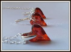 Fire Power! by Robyn Summers on Etsy featuring my Swarovski Jewellery set #swarovskijewellery #jewellery #Etsy