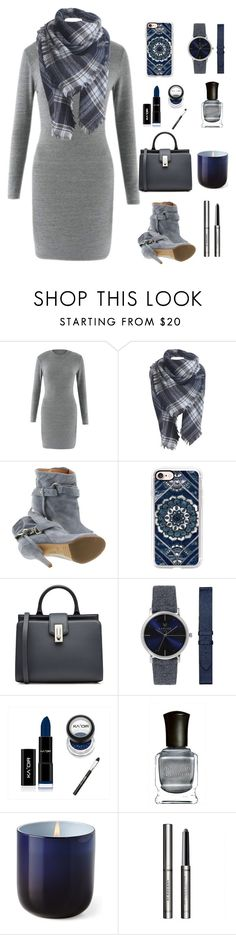 """""""A new Plaid Scarf"""" by im-karla-with-a-k ❤ liked on Polyvore featuring Maison Margiela, Casetify, Marc Jacobs, Blumarine, Deborah Lippmann, Jonathan Adler and Burberry"""