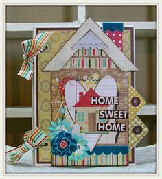 HOME SWEET HOME Mini House Album Scrapbook Album by PollysPaper, $17.00