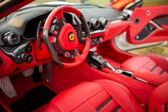 Ferrari F12 Berlinetta, Interior, Color Red And Black Custom