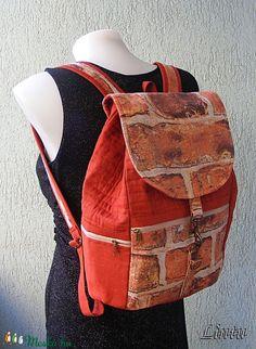 Textil hátizsák tégla mintázatú anyagból (Lintu) - Meska.hu Lany, Bradley Mountain, Leather Backpack, Backpacks, Fashion, Moda, Leather Backpacks, Fashion Styles, Backpack