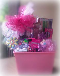 Girls Just Wanna Have Fun Gift Basket... A great #birthday, #quinceanera, or #sweet16 gift for your teen or tween!