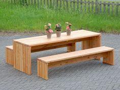 Gartenmöbel Set 1 Holz, Transparent Natur Geölt, Tischlänge: 240 Cm