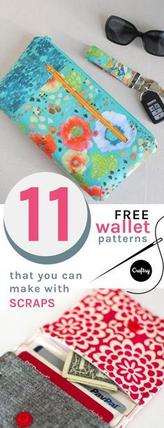 Do you have a ton of fabric scraps from past crafting projects? Why not put them to use and sew yourself a new wallet. Check out these 11 easy wallet patterns that are scrap-friendly.