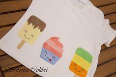 Camiseta personalizada ¡Al rico helado! Handpainted t-shirt by Señorita Colibrí