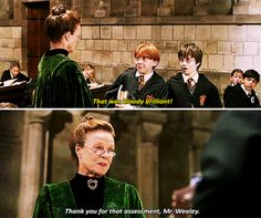 """When he was the only person in the world who could get away with swearing at Professor McGonagall. 