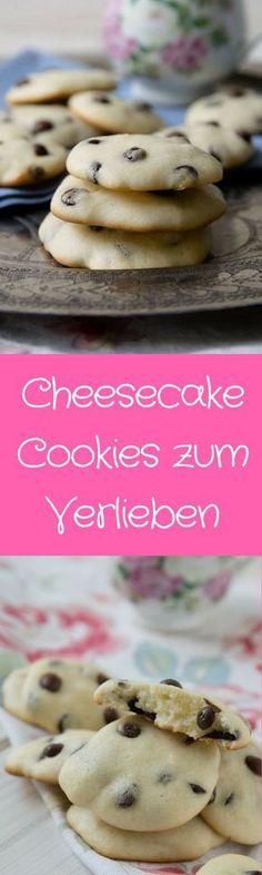 Diese Cheesecake Cookies lieben nicht nur die Kinder - mit Chocolate Chips und superweich. (Best Baking Desserts)