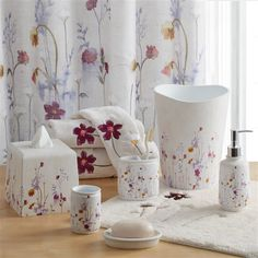 Pressed Flowers Bath Collection Croscill Shower Curtain Hooks Bathroom Collections Accessories