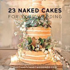 23 Naked Cakes for Your Wedding   Martha Stewart Weddings