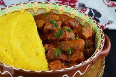Tocanita cu carne de porc - CAIETUL CU RETETE Dinner, Ethnic Recipes, Fiestas, Pork, Dining, Food Dinners, Dinners