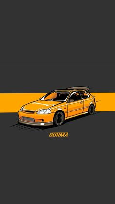 Civic Car, Honda Civic, Tuner Cars, Jdm Cars, Ek Hatch, Nissan Gtr R34, Cool Car Drawings, Jdm Wallpaper, Car Vector