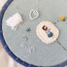 ✂️ ...yo me quedo con todas las condensaciones del recuerdo #unpensamientoquenosune #estudiogimenaromero #bordado #embroidery #broderie #ilustracióntextil #ilustraciontextil #textileillustration