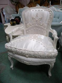 Love this chair!  Satin, wow!