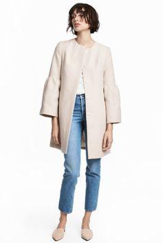 Wide-sleeved coat - Light beige - Ladies | H&M 70euro