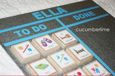 Daily Board Silver by cucumberlime on Etsy,  One Silver Board Daily Boy or Daily Girl Set (12 tiles)$22.50