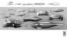 Rolls Royce , Sketches by Julien FESQUET / ISD