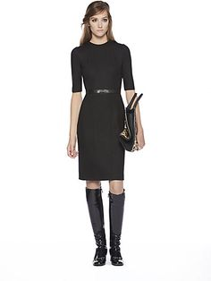 Gucci - Belted Wool Dress - Saks.com