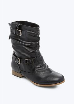 Back Zip Double Buckle Moto Boot   Shoes   rue21 #ShoesdayTuesday
