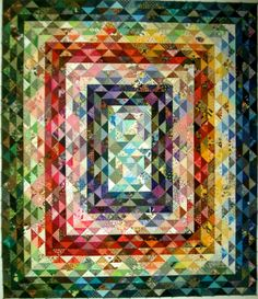 Scrap quilt by Elsie M. Campbell and Aunt Mimi's Quiltworks