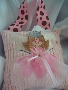 Tooth Fairy Pillow with Hand Painted Little by bubblesandcompany, $24.00