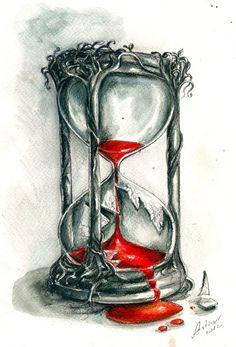 broken hourglass blood - Google Search