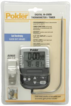 Harold Polder Digital In-Oven Programmable Probe Thermometer & Timer With Cord