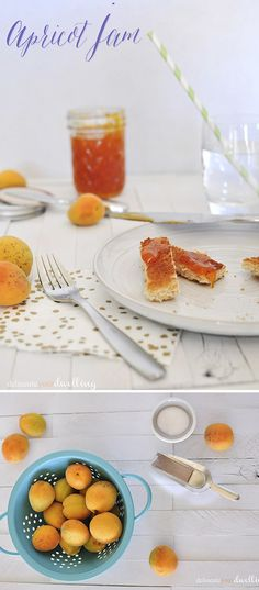A super simple and tasty Apricot Jam Recipe! Delineateyourdwelling.com