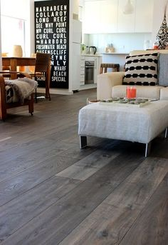-French Grey Recycled Oak Timber Flooring hardwood floors timber french grey recycled oak, flooring, hardwood floors, home decor See it Hardwood Floor Colors, Dark Hardwood, Gray Hardwood Floors, Grey Floorboards, Dark Wood, Grey Flooring, Flooring Ideas, Laminate Flooring, Flooring Options