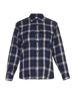 Checked cotton-blend shirt   Saint Laurent   MATCHESFASHION.COM US