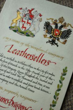 Pen and Ink Calligraphy: Heraldic Arts
