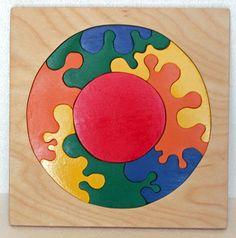 Handmade Wooden Montessori Rainbow Circle by PawPawsWorkshop