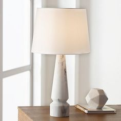 Cyril Faux Marble Table Lamp by 360 Lighting